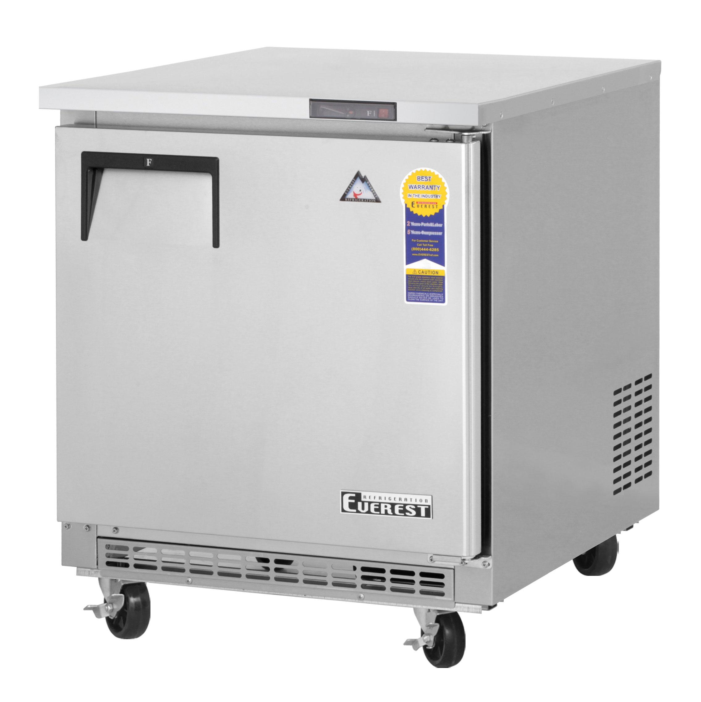 Everest Refrigeration ETBF1 freezer, undercounter, reach-in