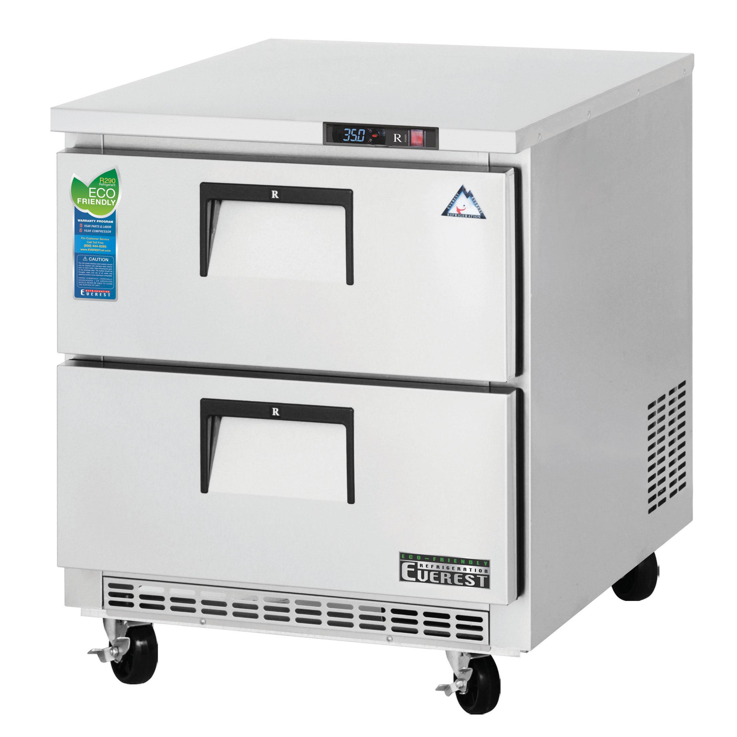 Everest Refrigeration ETBR1-D2 refrigerator, undercounter, reach-in