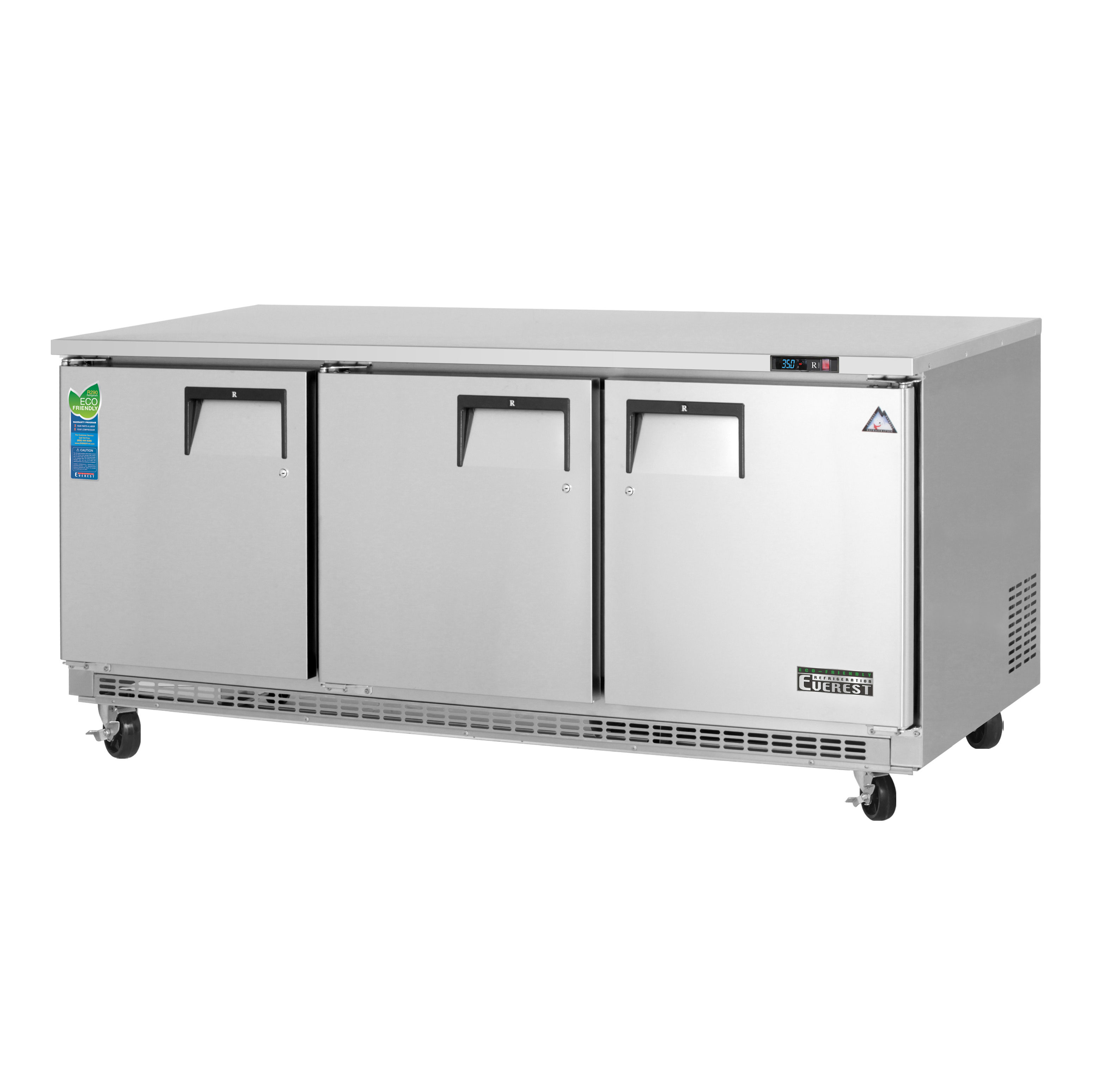 Everest Refrigeration ETBR3 refrigerator, undercounter, reach-in