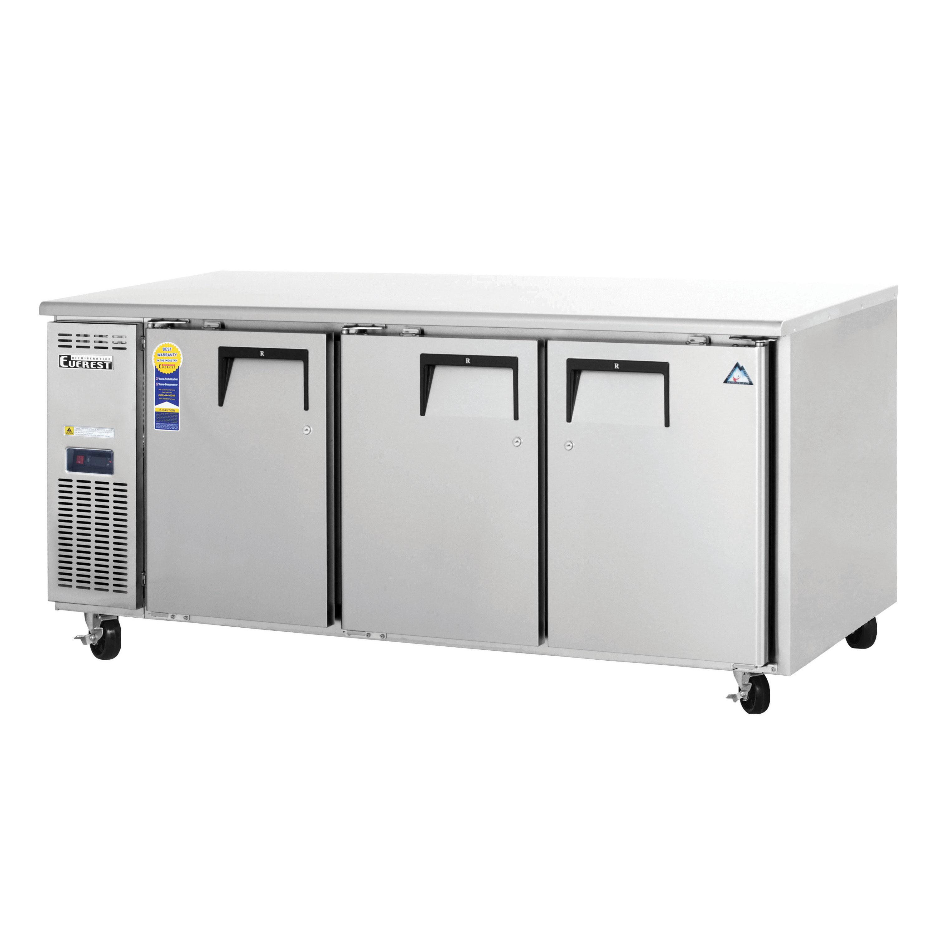 Everest Refrigeration ETF3 freezer, undercounter, reach-in