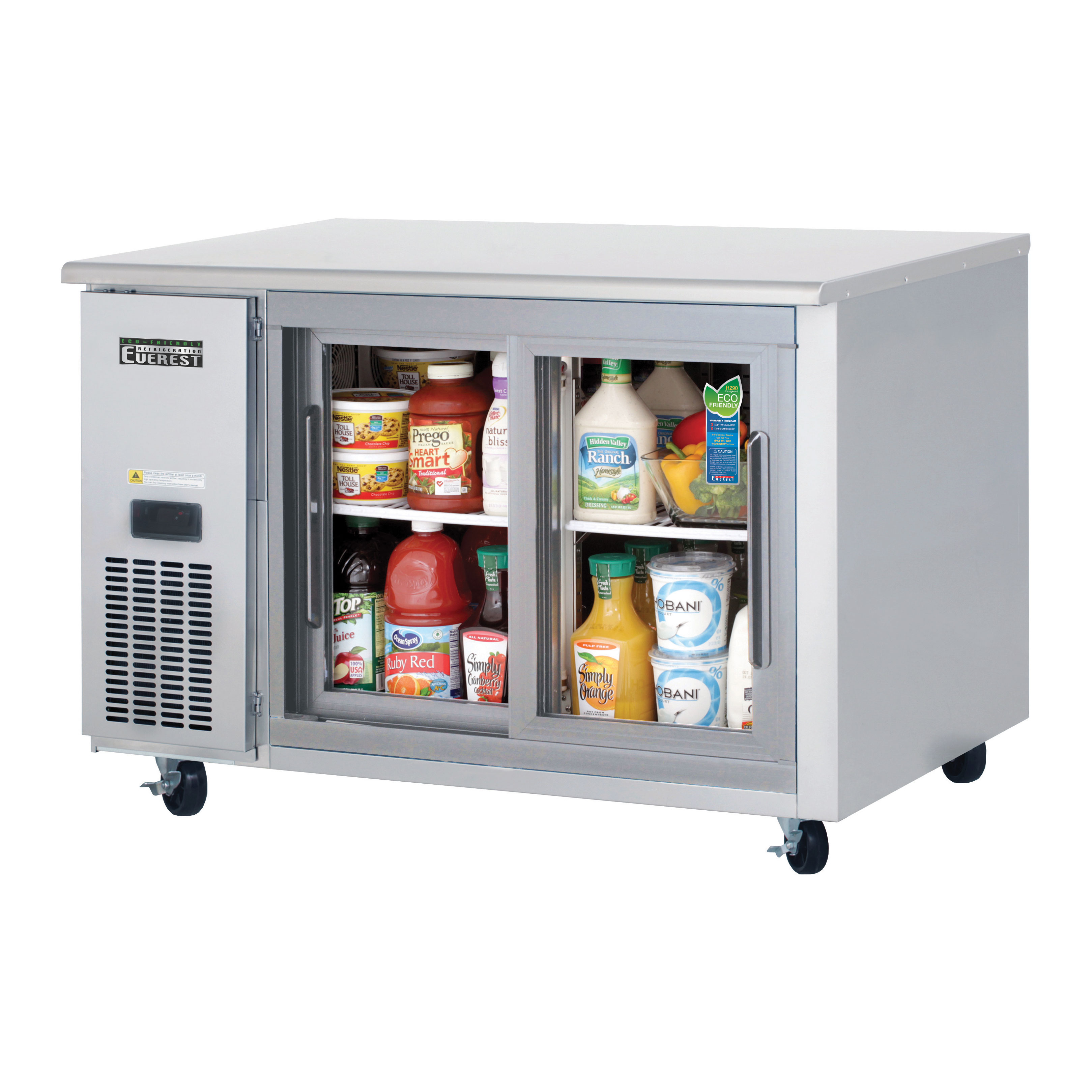 Everest Refrigeration ETGSR2 refrigerator, undercounter, reach-in
