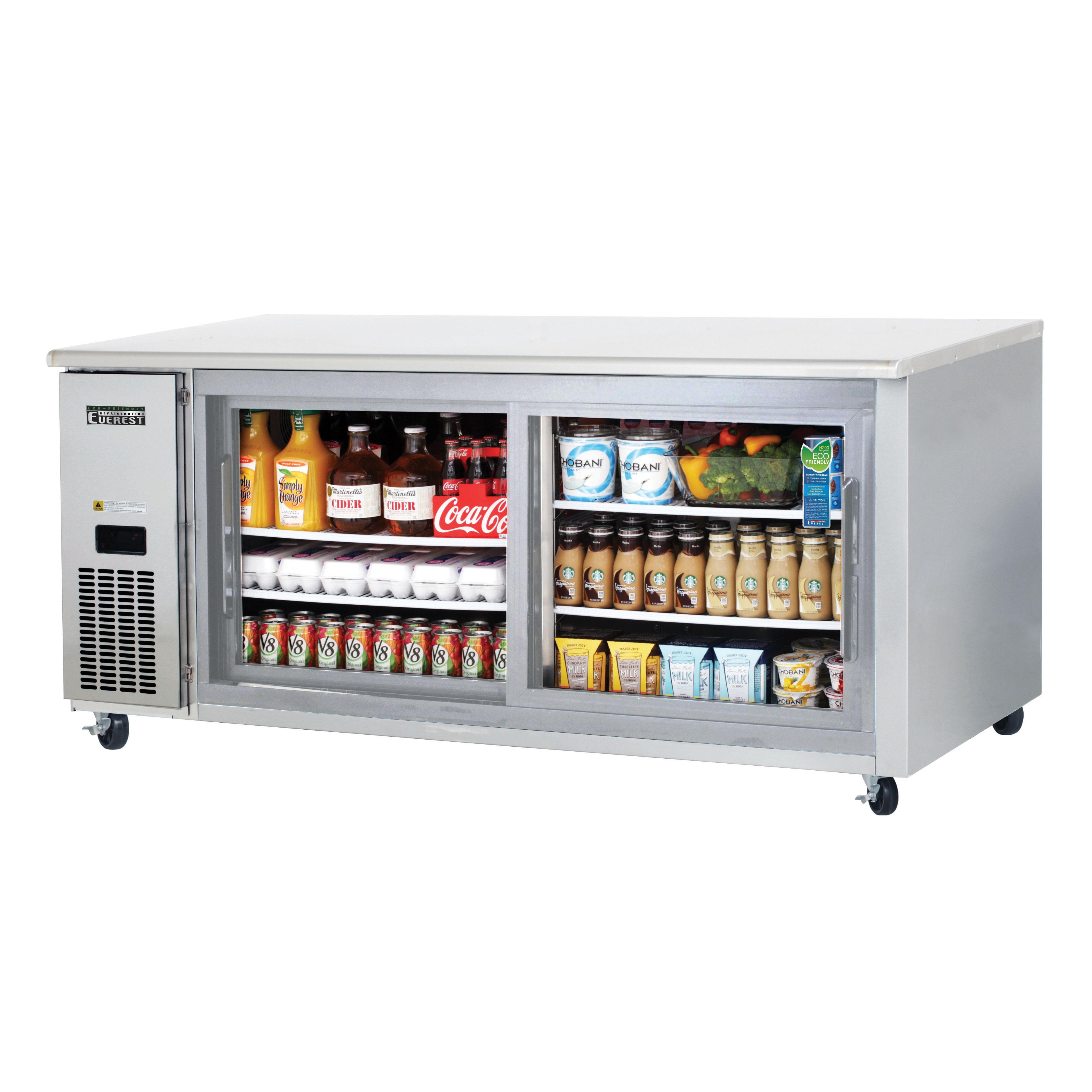 Everest Refrigeration ETGWR2 refrigerator, undercounter, reach-in