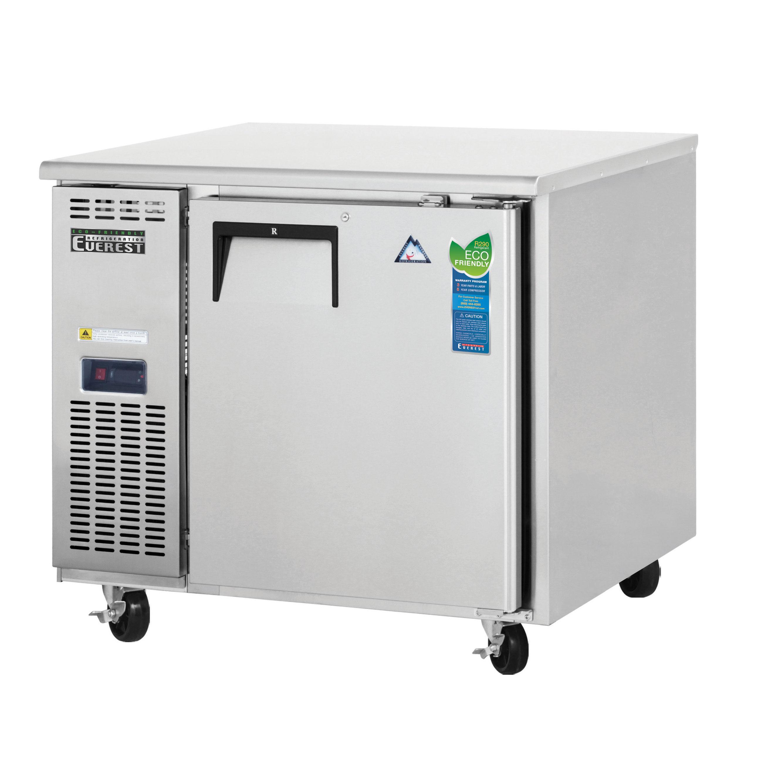Everest Refrigeration ETR1 refrigerator, undercounter, reach-in