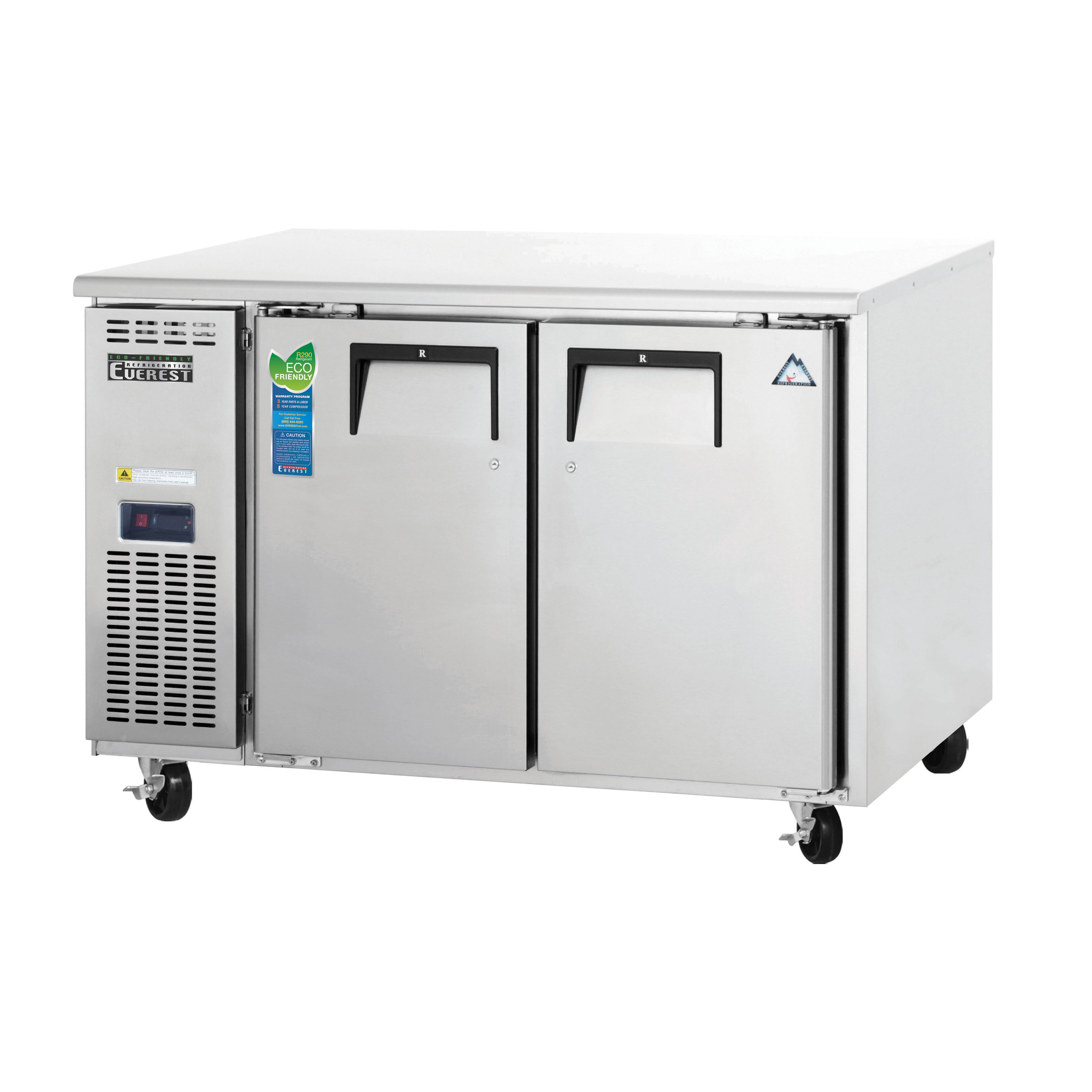Everest Refrigeration ETR2-24 refrigerator, undercounter, reach-in