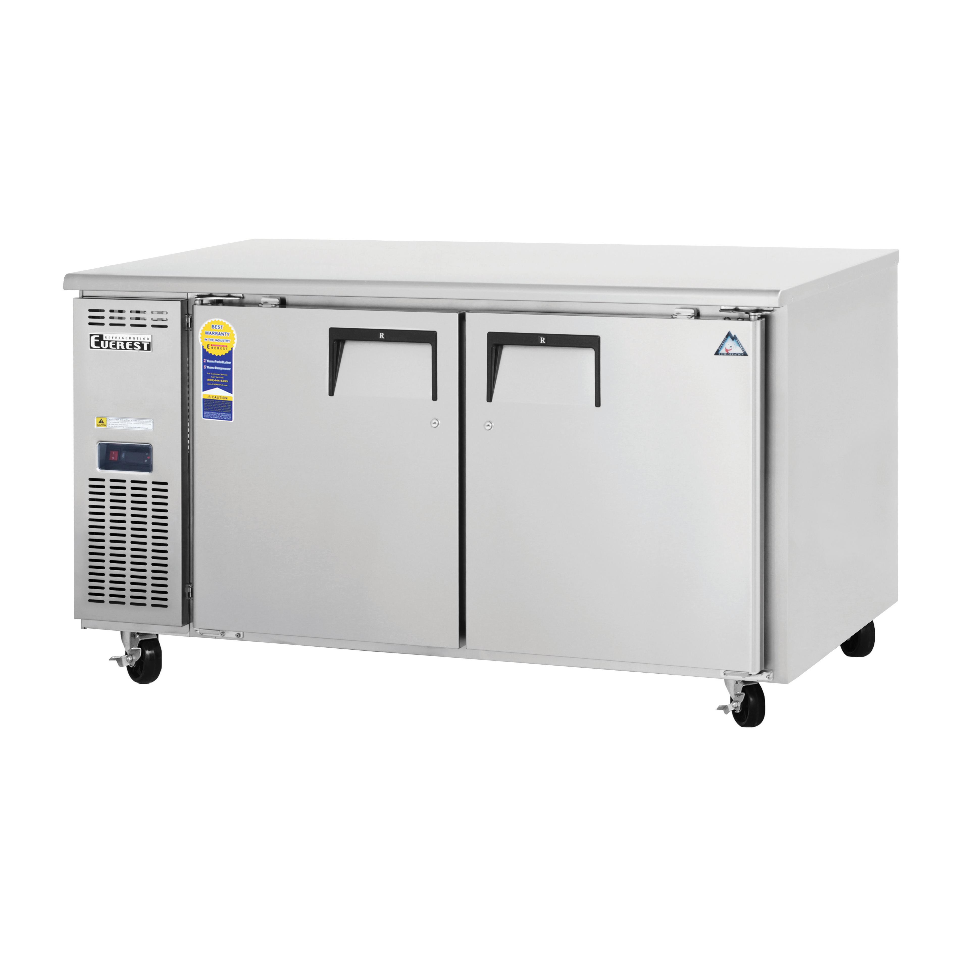 Everest Refrigeration ETWF2 freezer, undercounter, reach-in