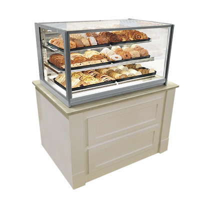 Federal Industries ITD3634 display case, non-refrigerated countertop