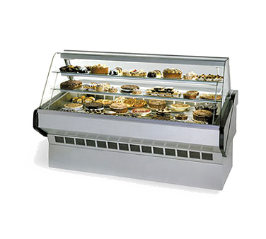 Federal Industries SQ8B display case, non-refrigerated bakery
