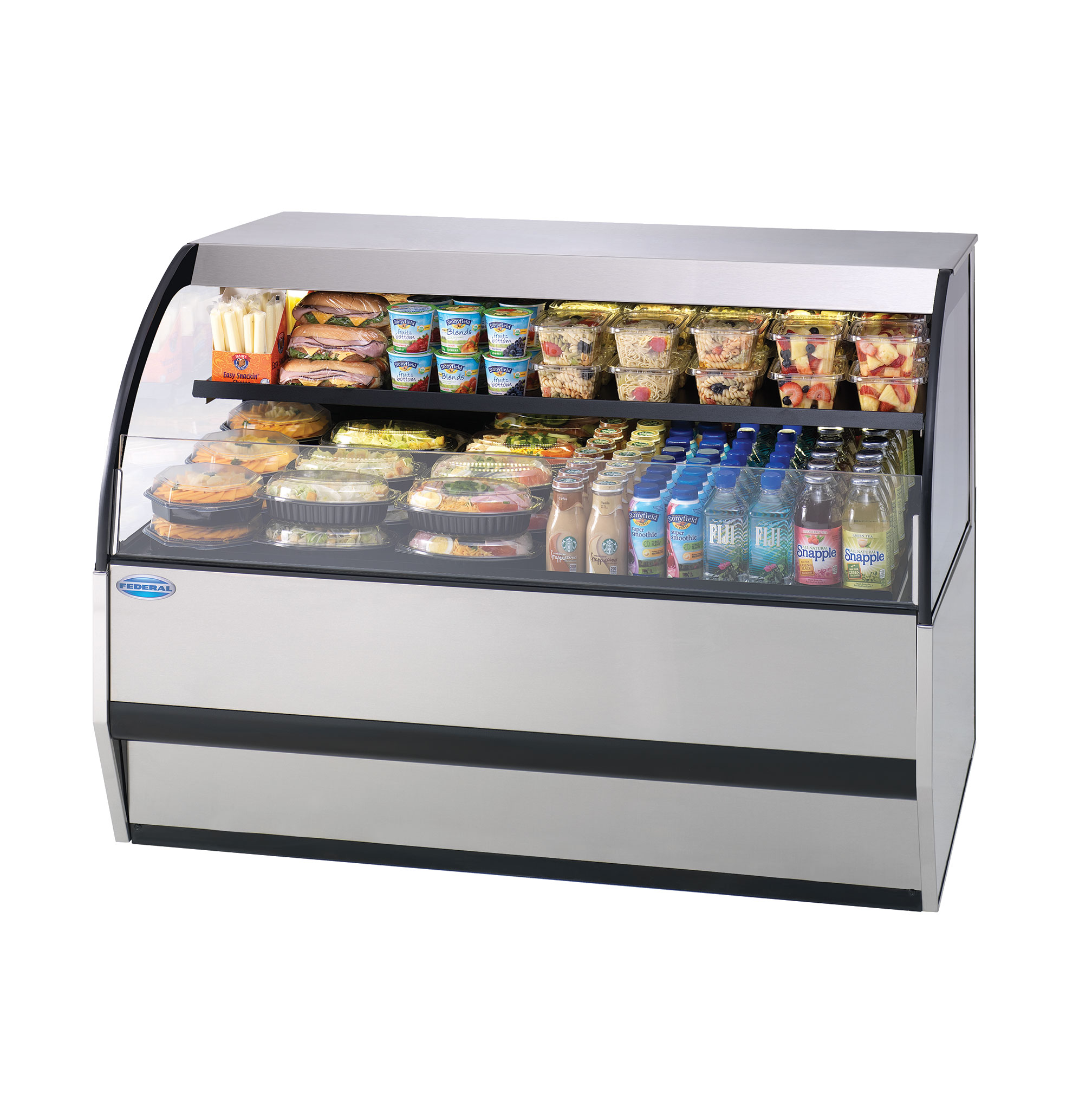 Federal Industries SSRVS-3633 display case, refrigerated, self-serve