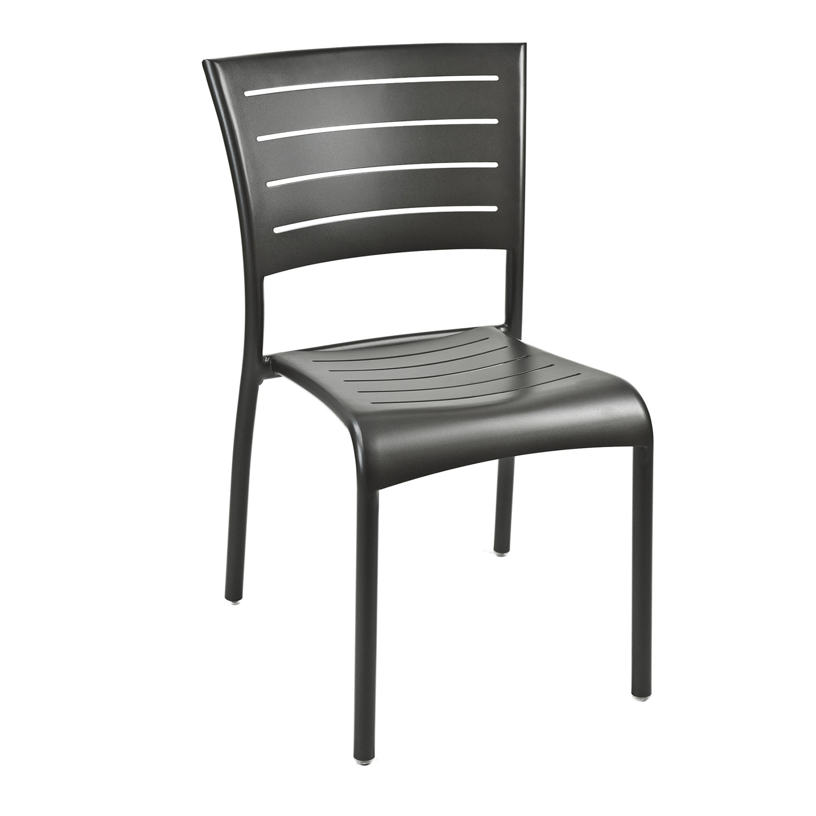 Florida Seating AL-5000-S BRONZE chair, side, outdoor