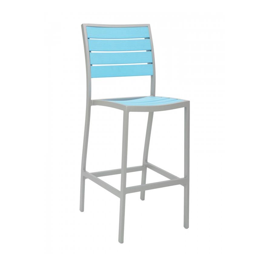 Florida Seating BAL-5602-0-SILVER/ BLUE bar stool, stacking, outdoor
