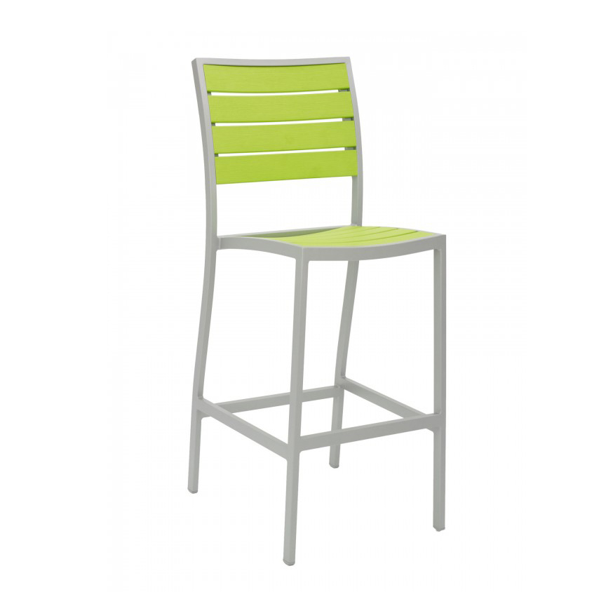 Florida Seating BAL-5602-0-SILVER/ GREEN bar stool, stacking, outdoor
