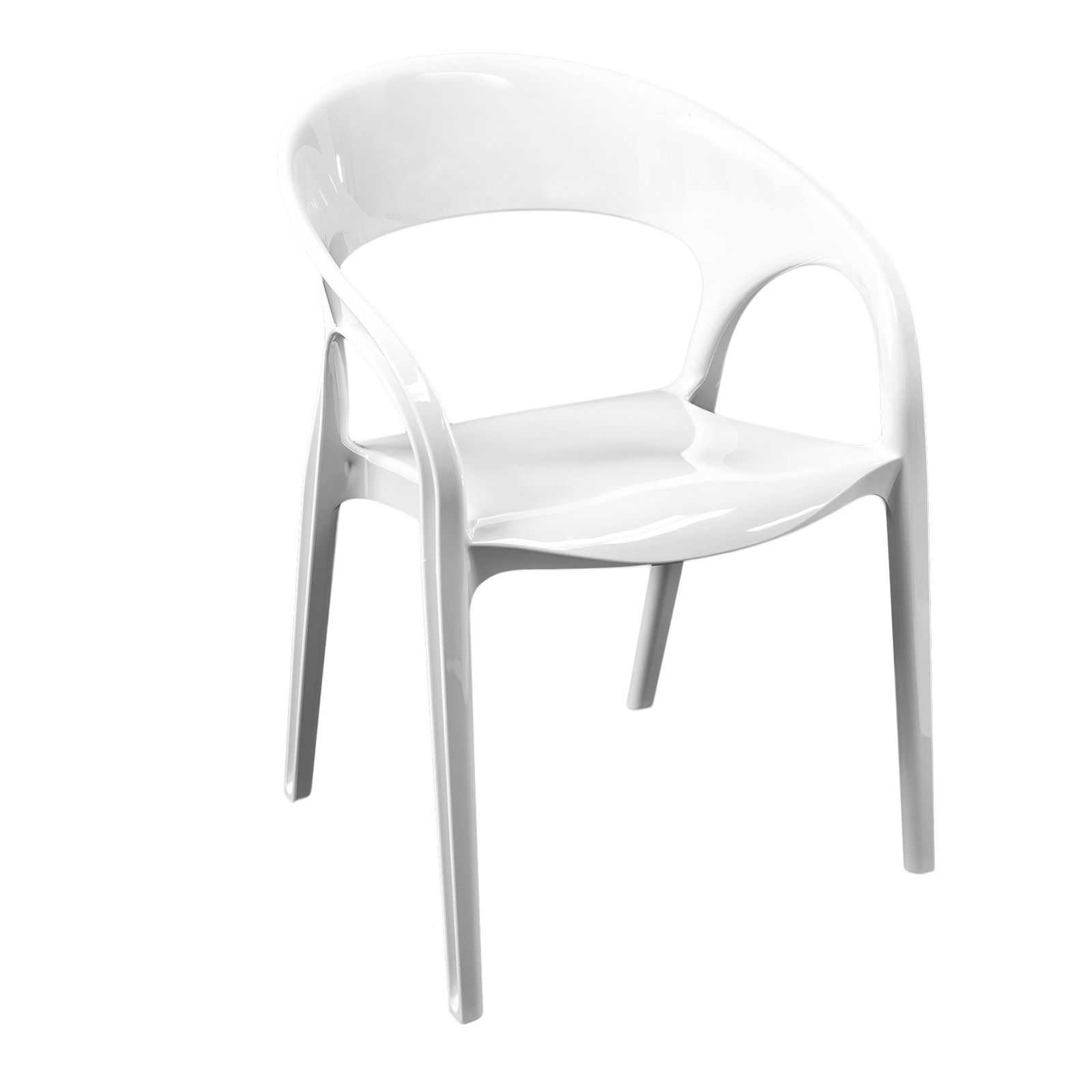 Florida Seating GOSSIP/WHITE chair, armchair, stacking, outdoor