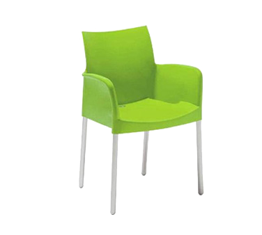 Florida Seating ICE-A/LEAF chair, armchair, stacking, outdoor