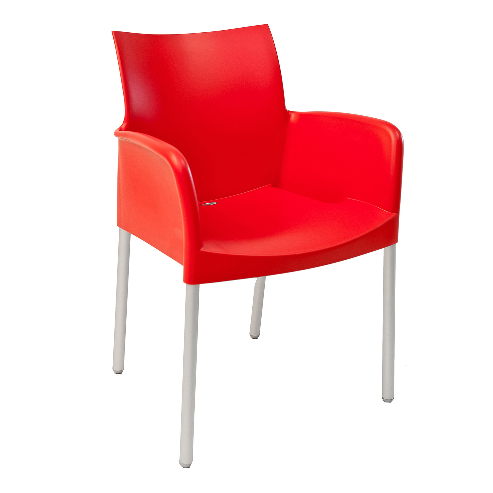 Florida Seating ICE-A/ROJO chair, armchair, stacking, outdoor