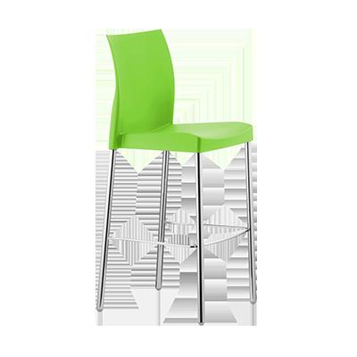 Florida Seating ICE-B/LEAF bar stool, stacking, outdoor