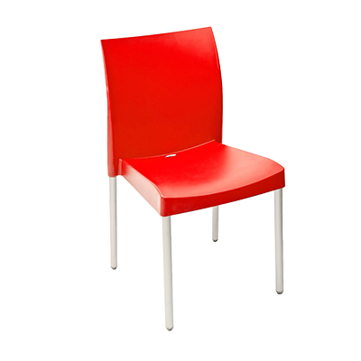 Florida Seating ICE-S/ROJO chair, side, stacking, outdoor
