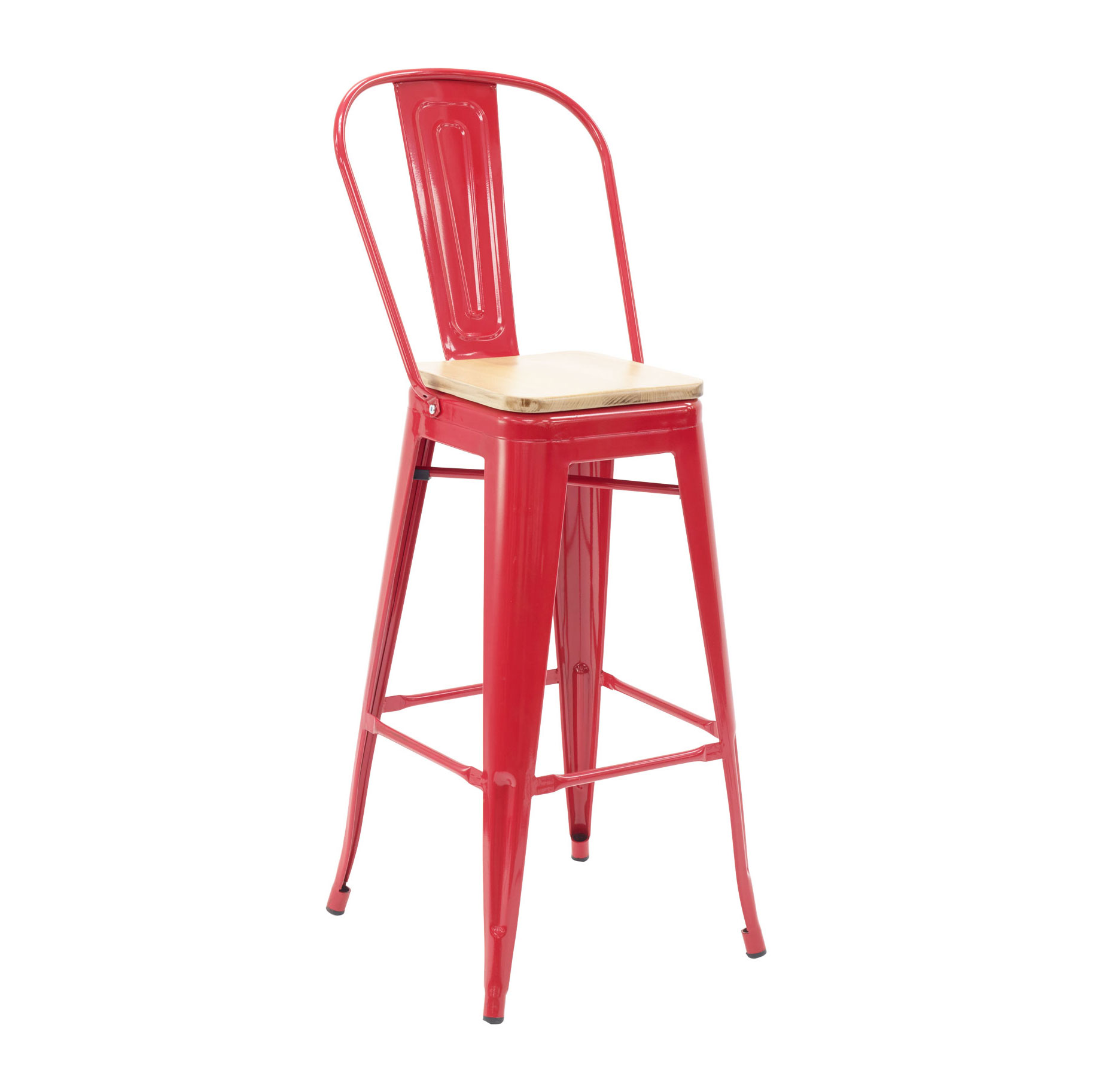 Florida Seating IND BARSTOOL RED GR1 bar stool, indoor