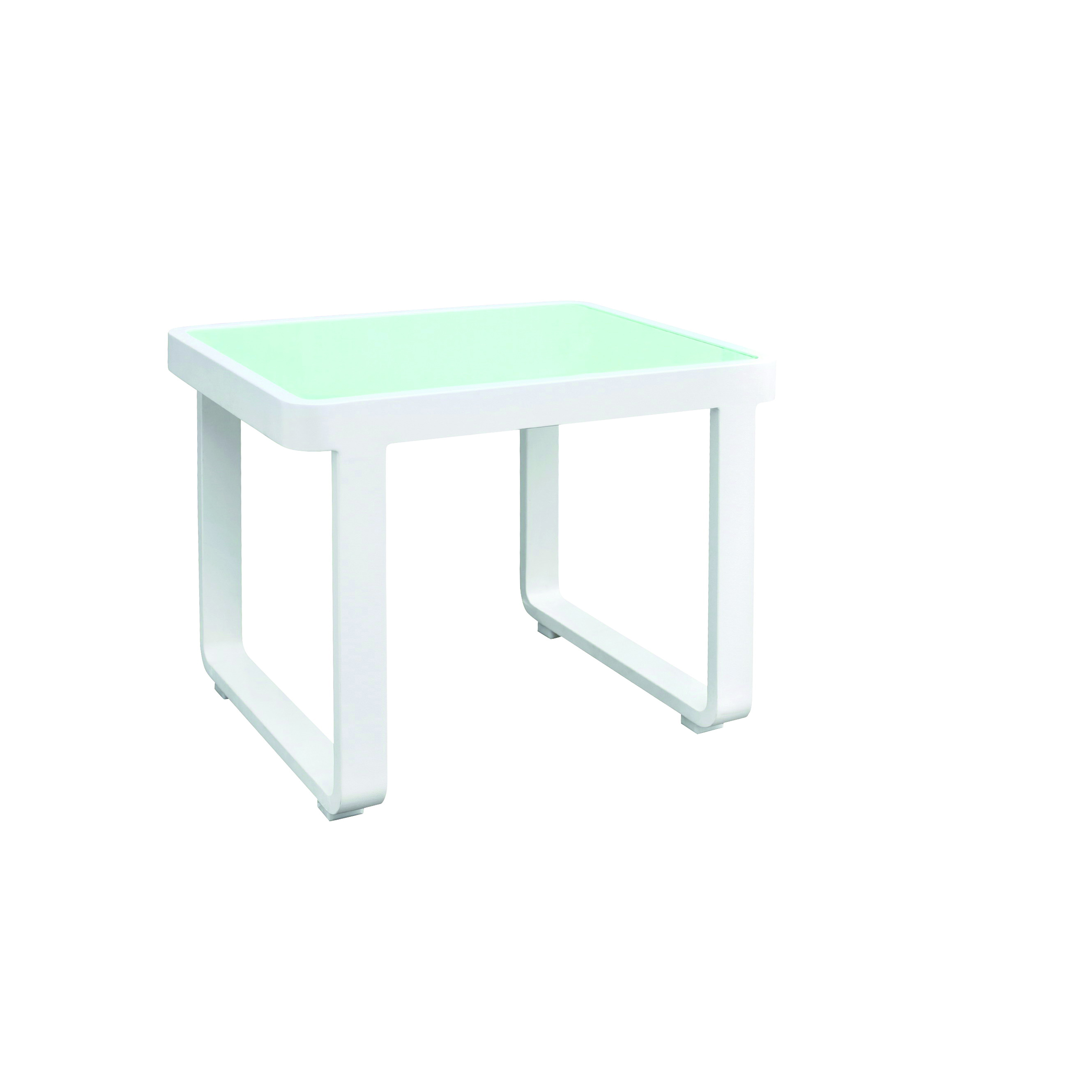 Florida Seating PB END TABLE W/GLASS sofa seating low table, outdoor
