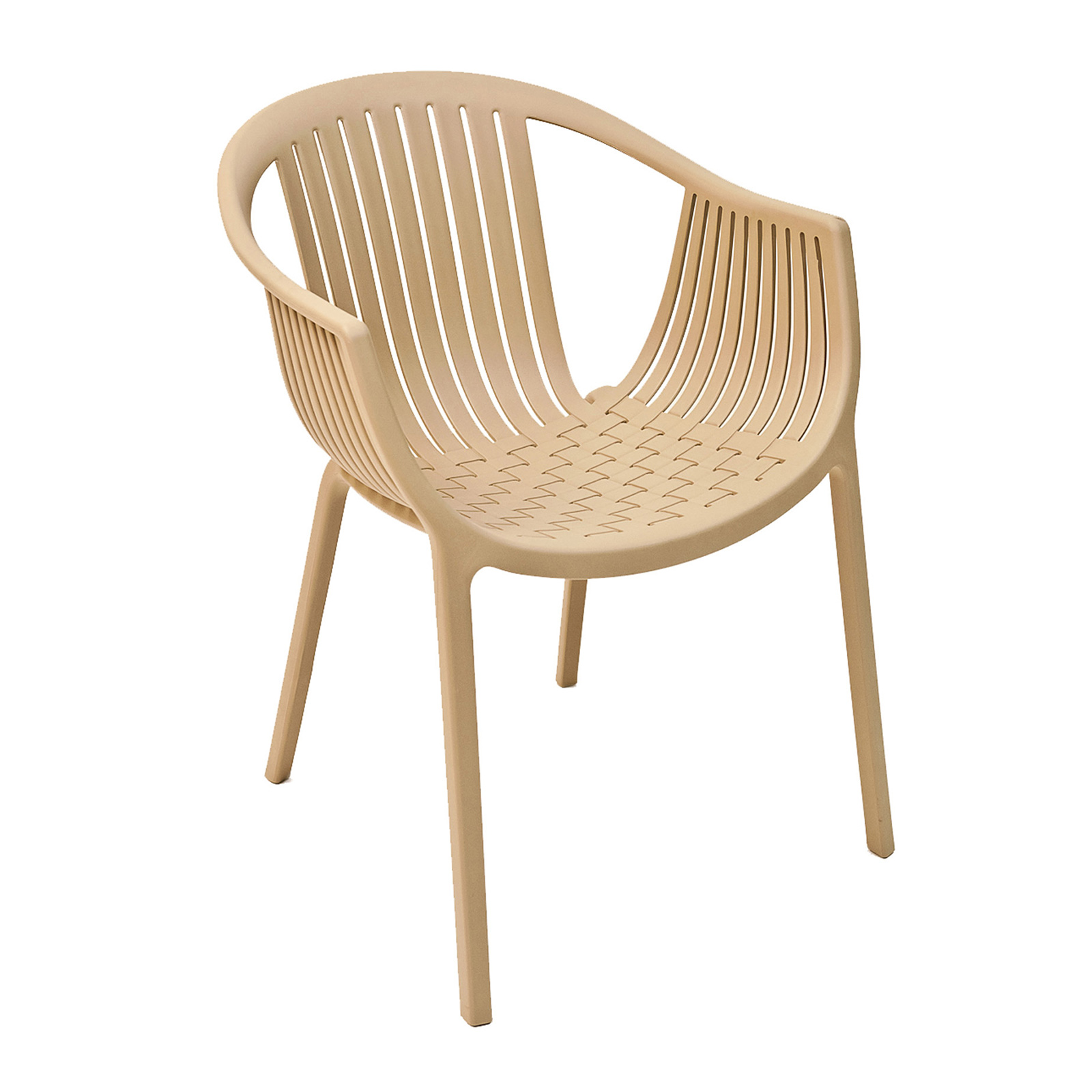 Florida Seating TATAMI/COCOA chair, armchair, stacking, outdoor