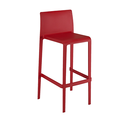 Florida Seating VOLT-B / RED bar stool, stacking, outdoor