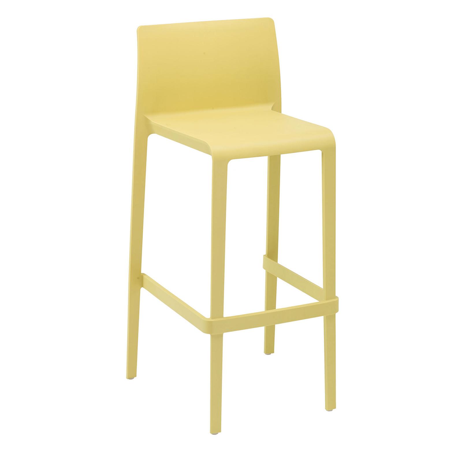 Florida Seating VOLT-B / YELLOW bar stool, stacking, outdoor