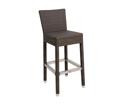 Florida Seating WIC-07B bar stool, outdoor