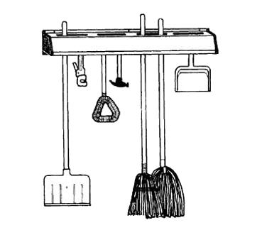 FMP 262-1068 mop broom holder