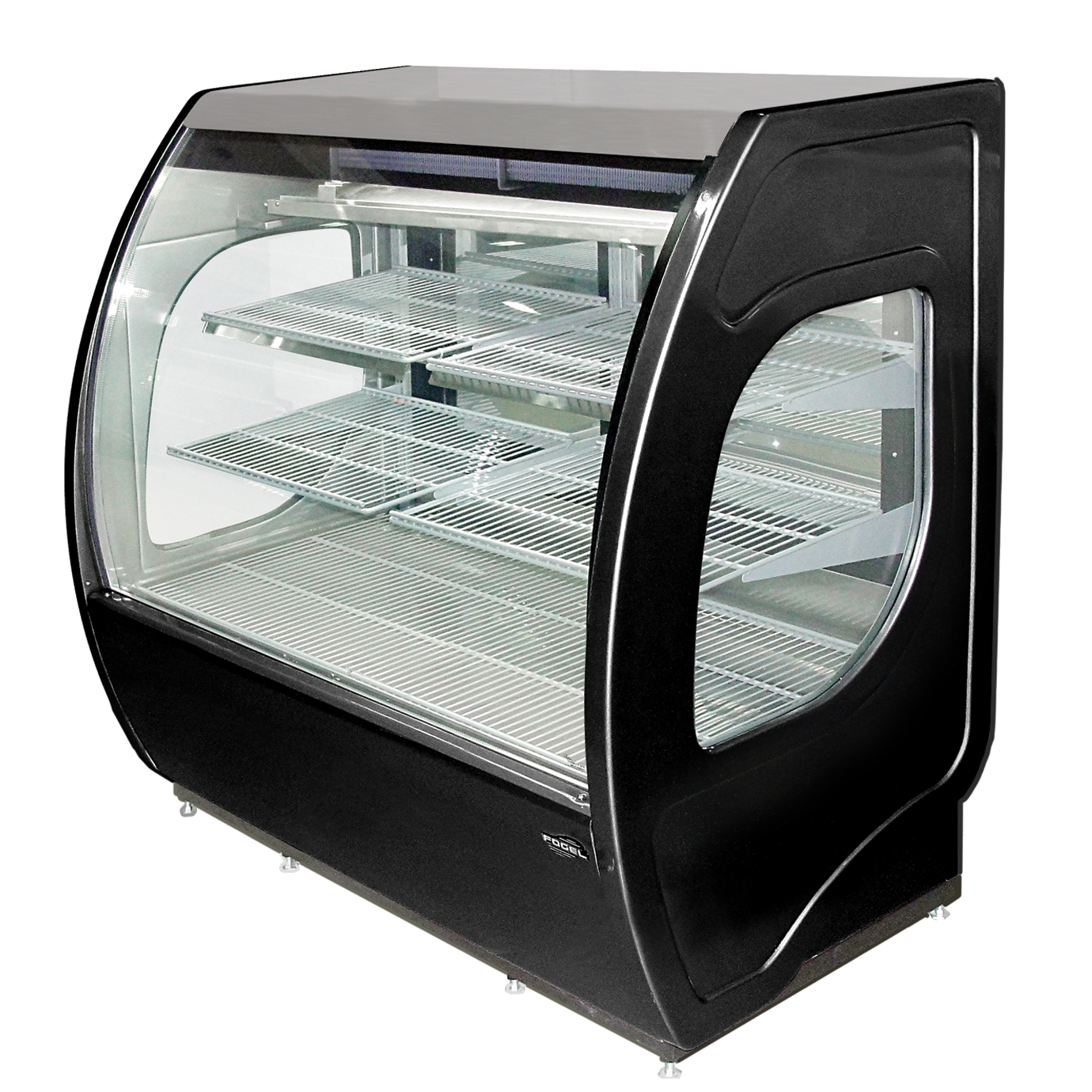 ELITE-4-DC-B Fogel USA display case, refrigerated deli