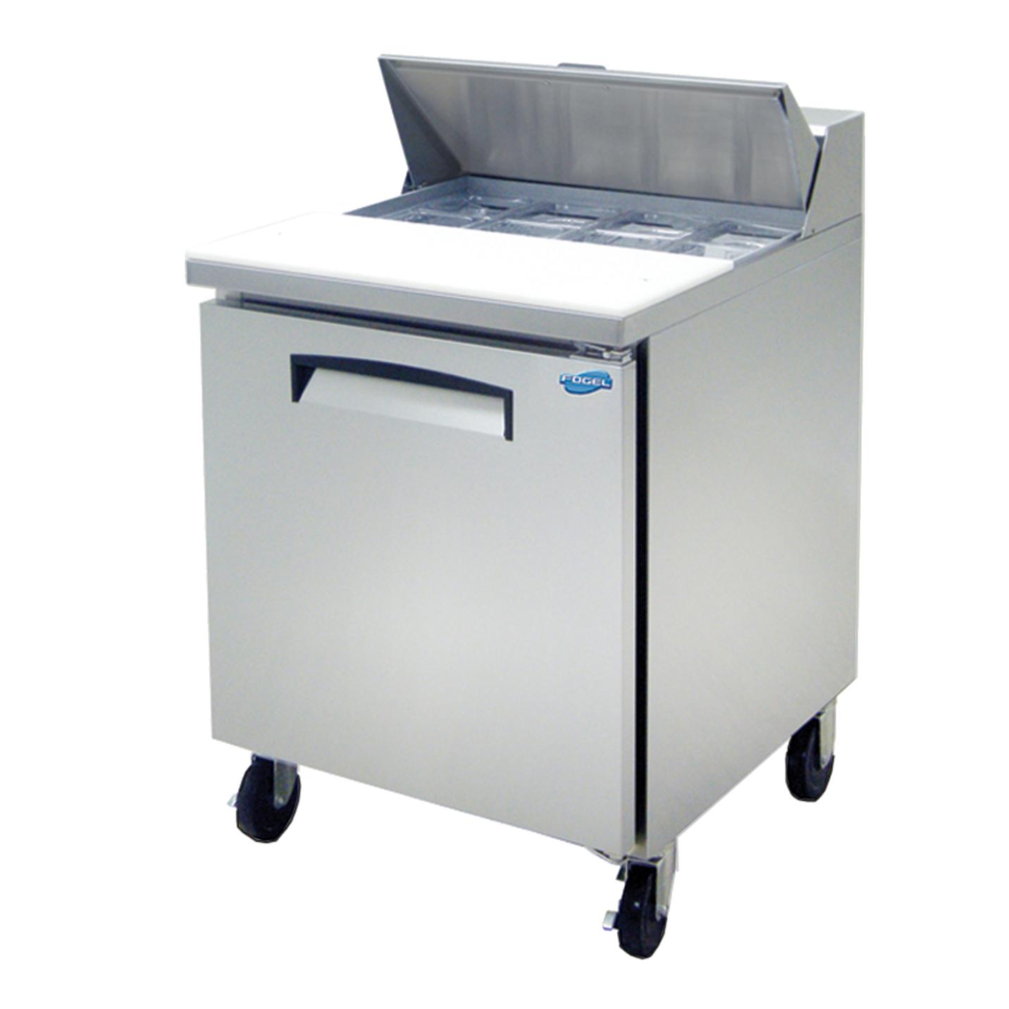 Fogel USA FLP-27-8 refrigerated counter, sandwich / salad unit