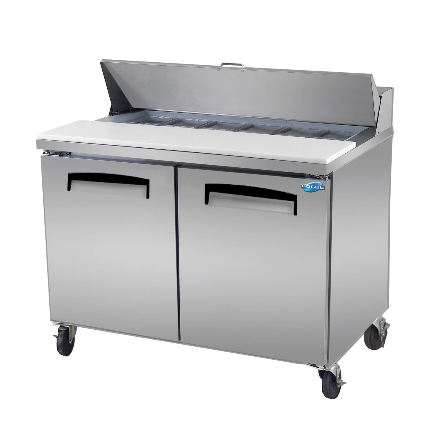 Fogel USA FLP-45-12 refrigerated counter, sandwich / salad unit
