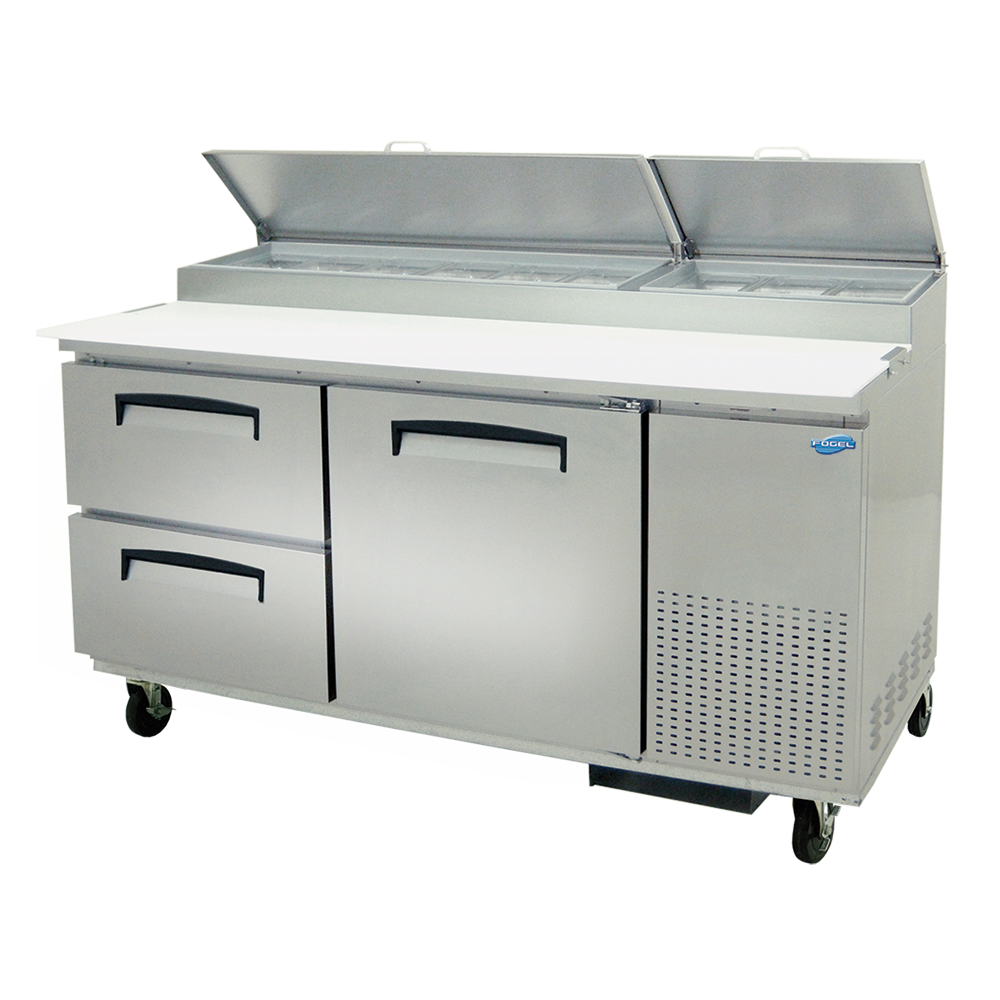 Fogel USA MPP-67-D refrigerated counter, pizza prep table