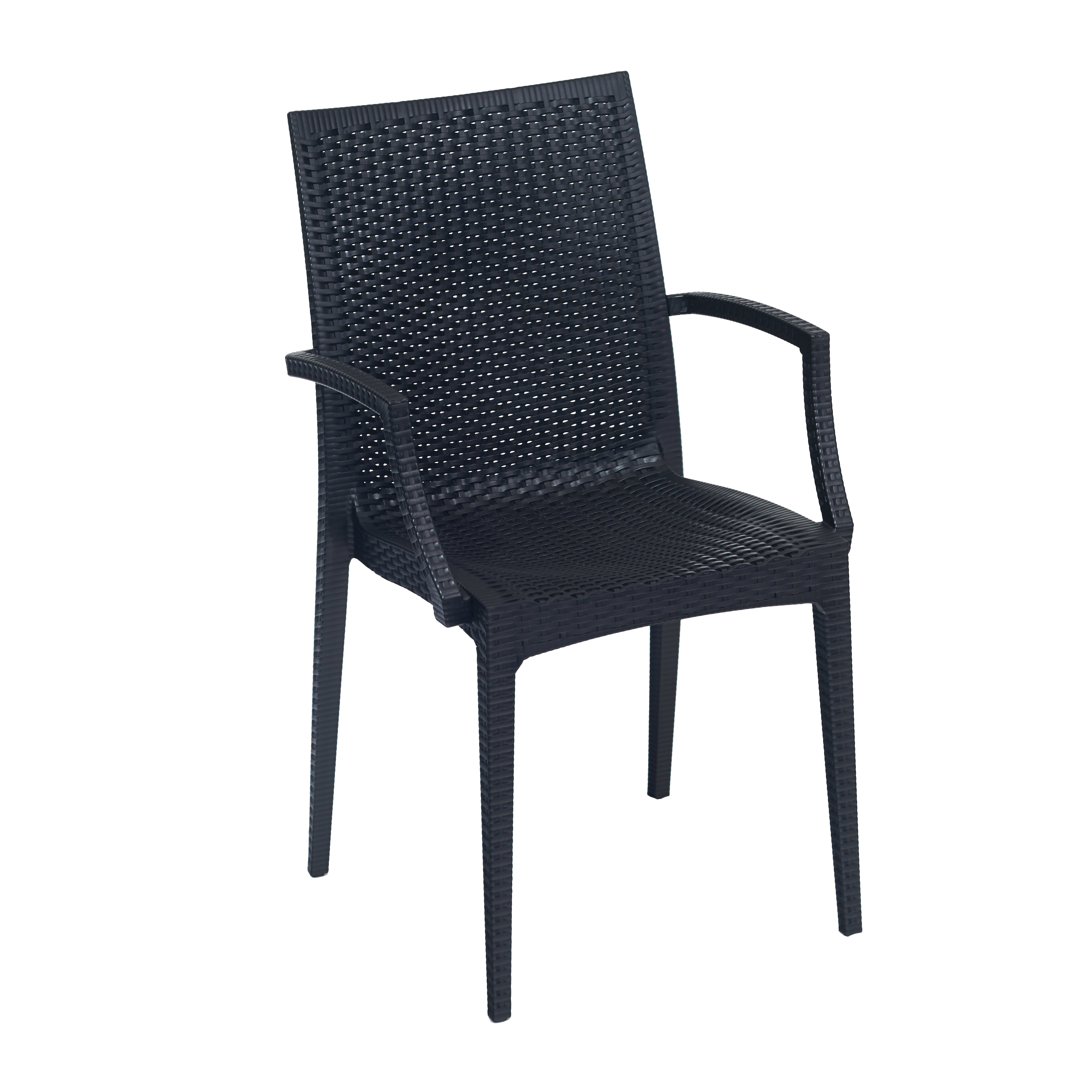 G & A Commercial Seating 245AR chair, side, outdoor