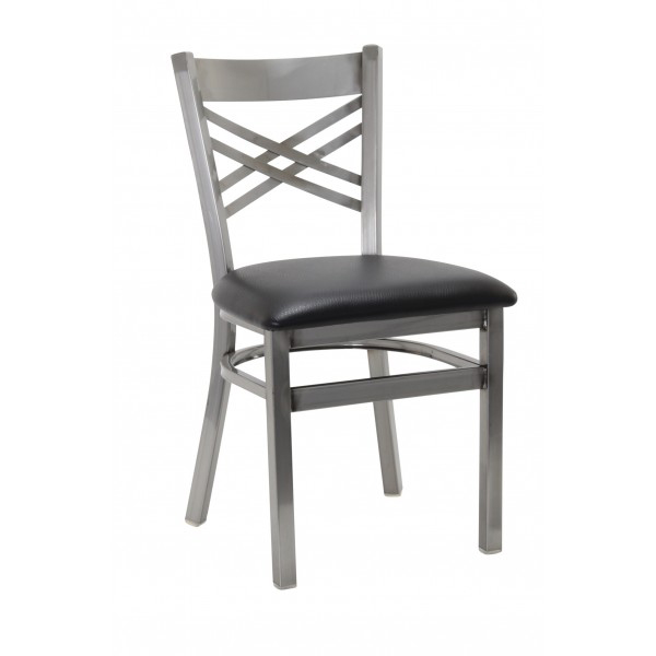 G & A Commercial Seating 599-D SS chair, side, indoor
