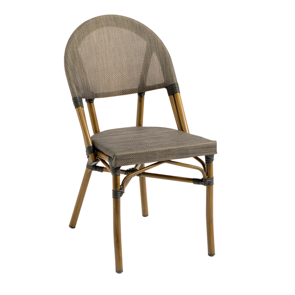 G & A Commercial Seating 820 chair, side, outdoor
