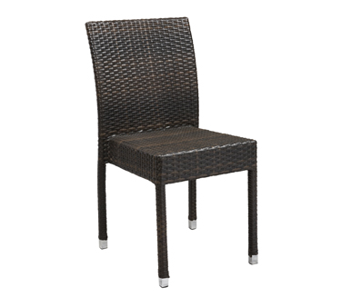 G & A Commercial Seating 840-ESPRESSO chair, side, outdoor