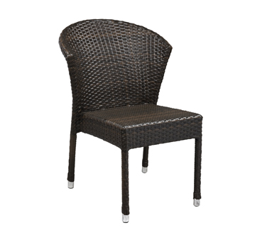 G & A Commercial Seating 845-ESPRESSO chair, side, stacking, outdoor