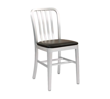 G & A Commercial Seating 870PS chair, side, outdoor