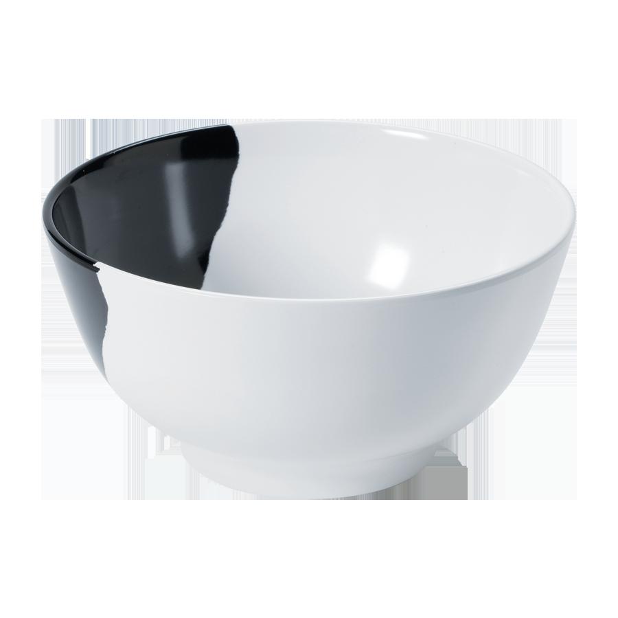 G.E.T. Enterprises B-14-W/BK bowl, plastic,  0 - 31 oz