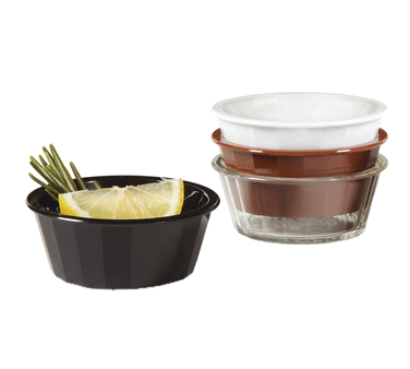 G.E.T. Enterprises ER-020-BK ramekin / sauce cup, plastic