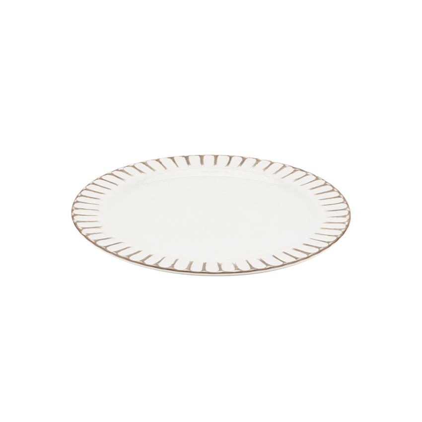 G.E.T. Enterprises P-10-PL-PWH plate, plastic