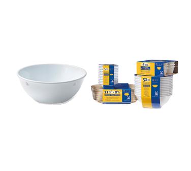 G.E.T. Enterprises SP-DN-310-W nappie oatmeal bowl, plastic