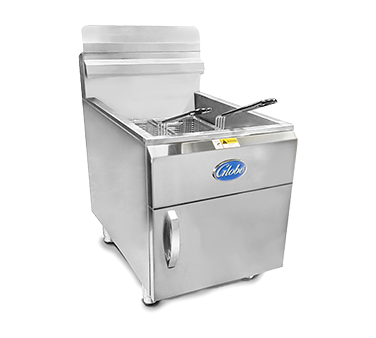 Globe GF30G fryer, gas, countertop, full pot