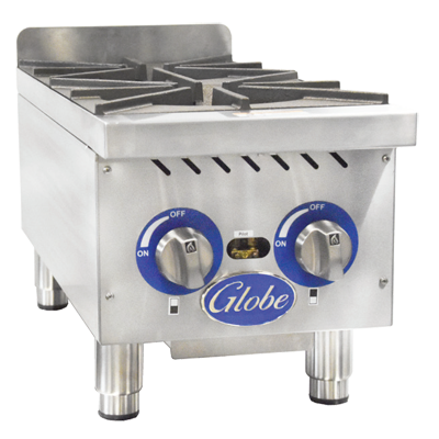 Globe GHP12G hotplate, countertop, gas