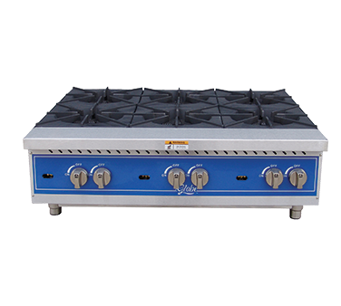 Globe GHP36G hotplate, countertop, gas