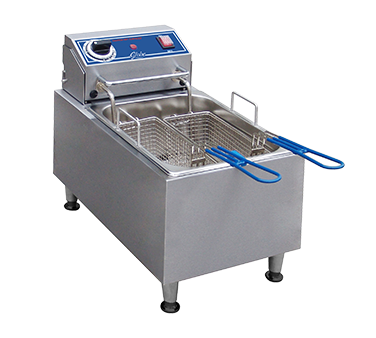 Globe PF10E fryer, electric, countertop, full pot