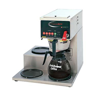 Grindmaster-Cecilware B-3WL coffee brewer for decanters