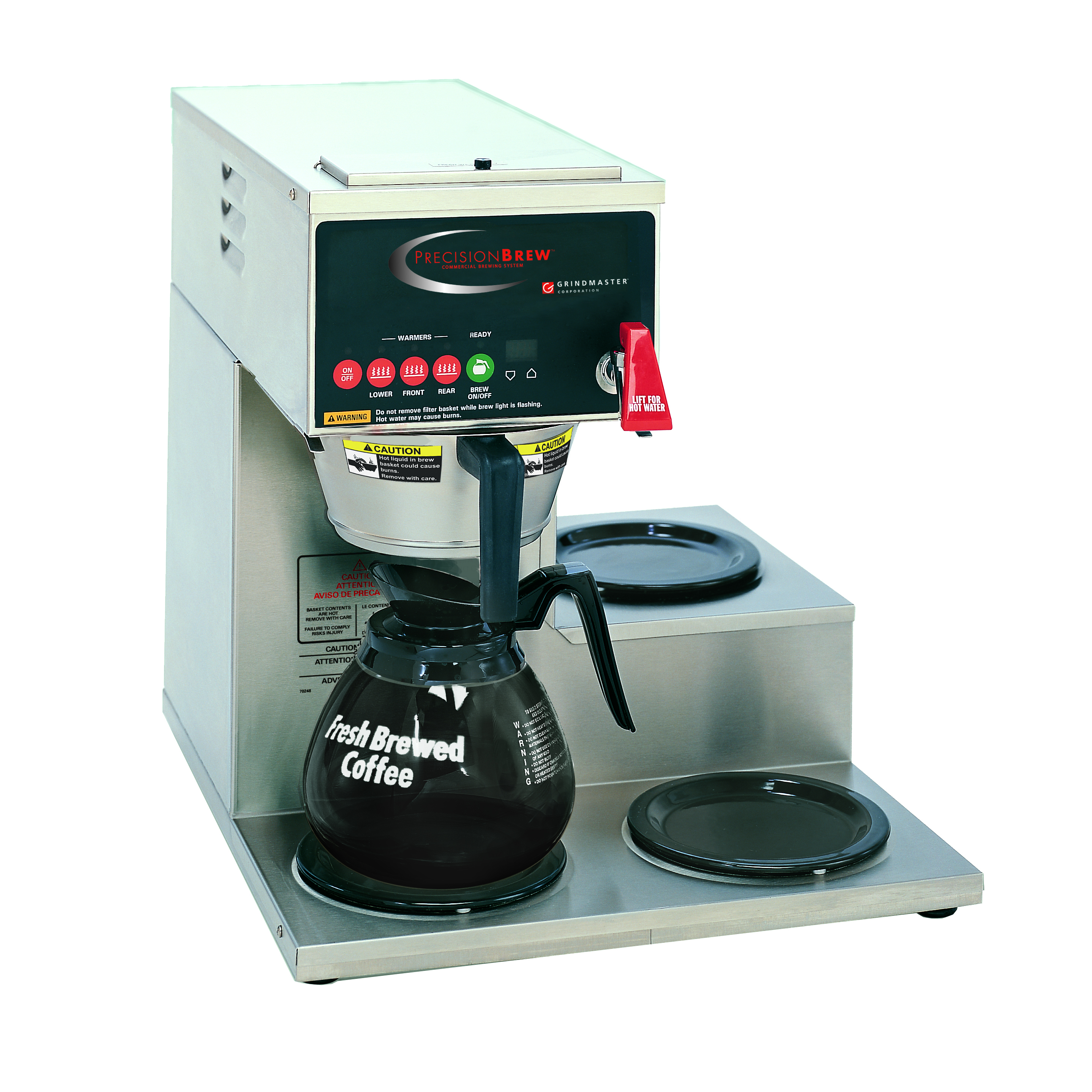 Grindmaster-Cecilware B-3WR coffee brewer for decanters