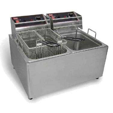 Grindmaster-Cecilware EL2X25 fryer, electric, countertop, split pot