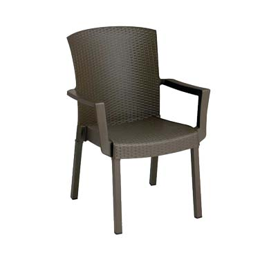 Grosfillex 45903037 chair, armchair, stacking, outdoor