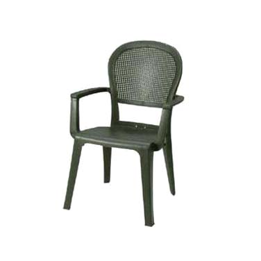 Grosfillex 46105002 chair, armchair, stacking, outdoor